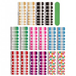 8 Blatt Nagelfolie Nagelsticker Glitzer Selbstklebend Aufkleber Nagelfeile