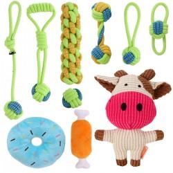 10pcs Welpenspielzeug Welpen Zahnen Spielzeug Hund Kauspielzeug Set