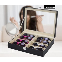 Brillenbox zur Aufbewahrung von 8 Brillen Brillenbox mit Schaufenster