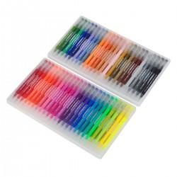 48pcs Watercolor Effekte Aquarellpinsel für Manga Kalligraphie