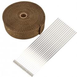 Hitzeschutzband Auspuffband Thermoband Krümmerband 15M mit Kabelbinder