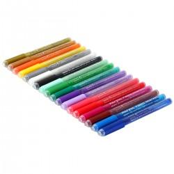 Farben Stifte Marker Acryl Paint Marker Stifte für Felsen Malerei, 18 Vibrant Farben Paint Marker Kit für Glas Stein Holz Keramik Craft liefert für Weihnachten Ostereier Kürbis Marker