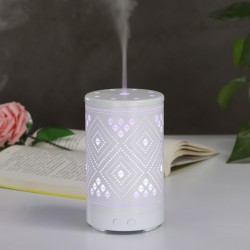 Aroma Luftbefeuchter Ultraschall Humidifier 100ml Aroma Diffuser Luftbefeuchter Duftlampe Diffusor mit 7 Farben