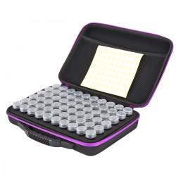 Diamond Painting Koffer Box mit 60 Flaschen Organizer Sortierkasten Aufbewahrung für Diamant Malerei DIY Handwerk