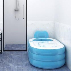 Badewanne aufblasbar Pool PVC Faltbare Plastikbadewanne Plastikbad Dick Warm Erwachsene Verdickung Bathtub