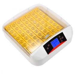 56 Eier Inkubator Brutmaschine Brutkasten,Vollautomatische Brutmaschine für Geflügeleier mit LED Temperaturanzeige