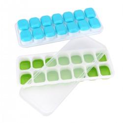 Eiswürfelform 4er Pack Eiswürfelform Silikon Mit Deckelm Ice Tray Ice Cube Quadratische Eiswürfelschalen Herauszunehmen Platzsparend und stapelbar