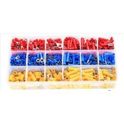 Kabelschuhe Set 700pcs Quetschverbinder Steckverbinder Flachsteckhülsen Ringkabelschuhe 27 Typen Rundstecker