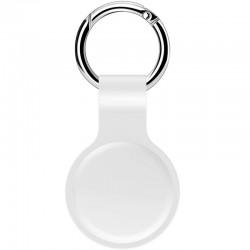 Anhänger Schutzhülle für AirTags Silikon Hülle Schlüsselanhänger Anhänger Soft TPU Ultra Thin Cover Stoßfest Anti-Scratch Slim-Fit (weiß)
