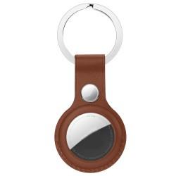 Anhänger Schutzhülle für AirTags Silikon Hülle Schlüsselanhänger Anhänger Soft TPU Ultra Thin Cover Stoßfest Anti-Scratch Slim-Fit (braun)