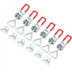 6pcs Metall Spannverschluss Bordwandverschluss Hebelverschluss Kappenschloss Kistenverschluss Einstellbare
