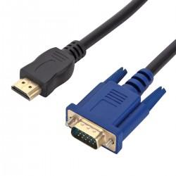 1,8m Kabel HDMI zu VGA HDMI Stecker auf VGA Stecker Adapter für Computer Desktop Laptop PC Monitor usw.