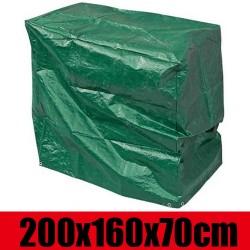 Abdeckplane 200*160*70cm Wasserdichte Schutzhülle Haube Abdeckung