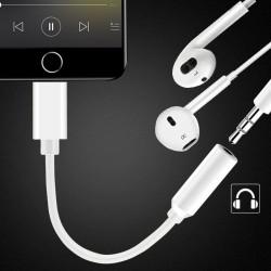 Adapter Lightning Audio f. iPhone 10.3 3,5 mm Kopfhörer Konverter weiß