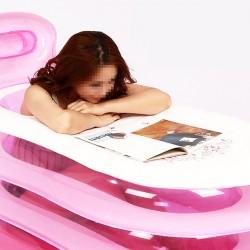 Bathtub Relax Pool Badewanne mit Nackenkissen und Luftpumpe Erwachsene