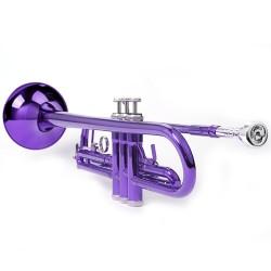 Bb Trompete Mundstück Zubehör, purpur, aus Kuper, mit Koffer, Anfänger