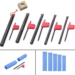 Bohrstange Stab Tunring 5er Werkzeug Drehmeißel Set für Drehmaschine