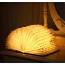 Buchlampe Tischlampe faltbar Holz Buch LED Lampe Nachtlicht USB Kabel