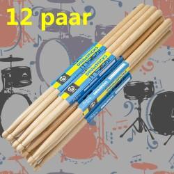 Drumsticks Schlagzeug Schlagzeugstick aus Massives Hickory 7A 12Paare