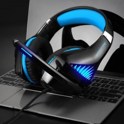 Gaming Kopfhörer Headset mit Mikrofon USB für PC Laptop Smartphone