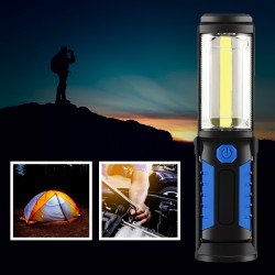 Handlampe Arbeitsleuchte Magnet Taschenlampe Akku LED Lampe 3W