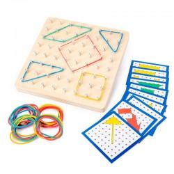 Holz Geoboard Set Geometriebrett Montessori Spielzeug für Kinder