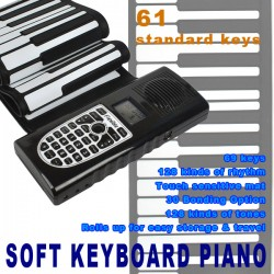 Keyboard Piano E-Klavier Roll Up Piano Midi 61 Tasten mit Interface