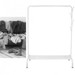Kleiderständer Garderobenständer Kleiderstange aus Metall mit Ablage