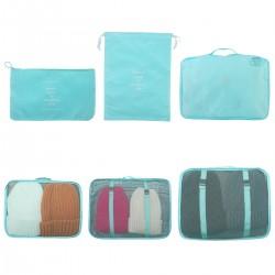 Koffer Organizer Set 6 teilig Kleidertaschen Schuhbeutel für Kleidung