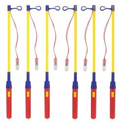 LED Laternenstab Elektronischer 6er-Pack mit Licht für Kinder Party