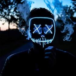 LED Purge Maske Horror Maske mit 3 Blitzmodi für Halloween