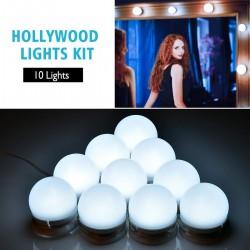 LED Schminkleuchte Spiegelleuchte Glühbirnen Hollywood Stil 10pcs Set
