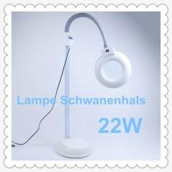 Lupenlampe Arbeitsplatzleuchte Kaltlicht 5 Dioptrin Schwanenhals 22W