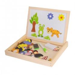 Magnetisches Spielzeug Holzpuzzle Lernspiel Magnetpuzzle für Kinder