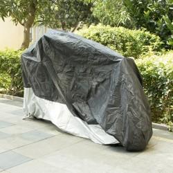 Motorradplane Regenschutz Abdeckplane Cover Roller Wetterdicht Silber