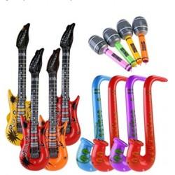 Musikalische Instrumente Spielzeug 12Stk. für Party Prop aufblasbar
