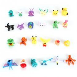 Pocket Monster komplett Set Minifiguren Figuren 24 Stück f. Kinder