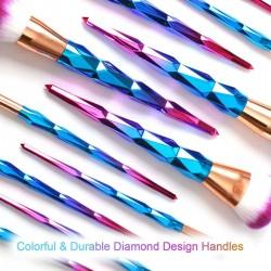 Schminkpinsel Make Up Pinsel Kosmetikpinsel Gesichtspinsel Set 12pcs
