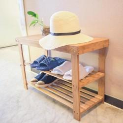 Sitzbank Schuhregal Schuhbank mit 3 Ablagen ideal für Wohnzimmer Flur