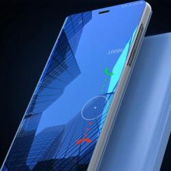 Spiegel Schutzhülle Handyhülle mit Ständer f. Huawei P20 Pro blau