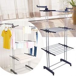Trockenregalen Trockenständer Kleiderstange Wäscheständer 3 Ebene