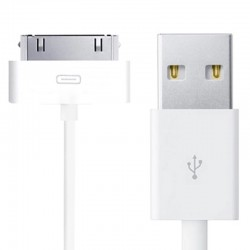 USB 30pin Datenkabel iPhone 4 iPad 1, 2, 3 Ladekabel weiss ca. 98 cm