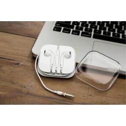 Universal In-Ear Headset Kopfhörer für iPhone mit Mikrofon weiss