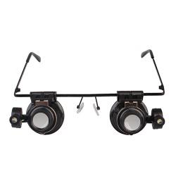 Vergrößerungs Brille Lupenbrille 20X mit LED Light für Reparatur