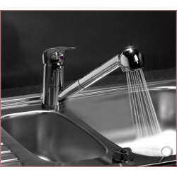 Wannenarmatur mit Brausegarnitur Chrom Armatur Wasserfall Wasserhahn