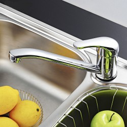Waschbecken Mischhahn Wasserhahn Armatur Wasserfall spüle f. Küche