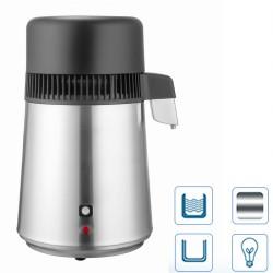 Wasserdestille Wasserdestilliergerät mit Glasflasche Edelstahl 4L