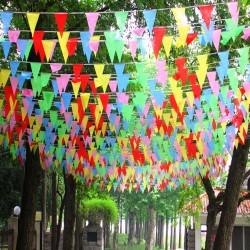Wimpel Banner Dekorationen Flaggen Für Festival Grand 38m 100pcs