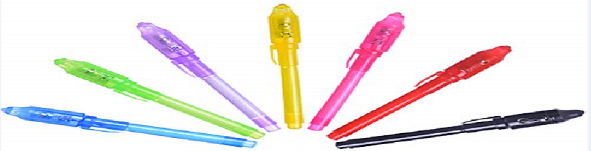Geheimstift mit UV Licht Kinder – unsichtbare Tinte einfach selber machen