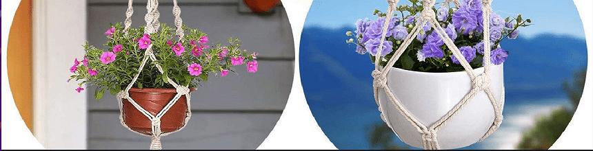 Wohnen mit Pflanzen  -  DIY hängende Pflanzenhalter selber machcen